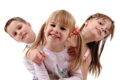Three happy kids Stock Image