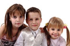 Three happy kids Stock Photography
