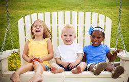 Three Happy Little Kids Royalty Free Stock Photo