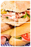 Three happy sandwiches Royalty Free Stock Images