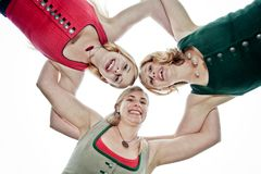 Three happy Sisters Royalty Free Stock Images