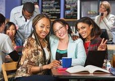 Three Happy Students Royalty Free Stock Photo