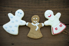 Three Happy Woman Cookies Stock Photo