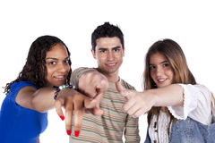 Three happy young friends Royalty Free Stock Photos