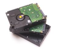 Three hard disks Stock Images