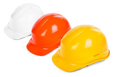 Three hard hats Stock Photo