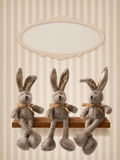 Three hares Stock Image