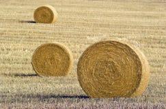 Three hay bales Royalty Free Stock Photography