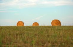 Three Haystacks Royalty Free Stock Photo