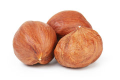 Three hazelnut kernels Royalty Free Stock Image