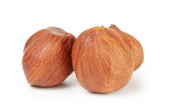 Three hazelnut kernels isolated Royalty Free Stock Photos
