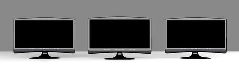 Three HDTVs Stock Photography