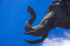 Three head elephant statue Royalty Free Stock Images
