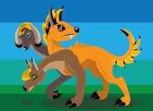 The three headed dog walks Stock Image