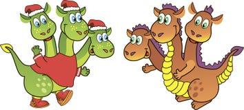 Three-headed dragon Stock Photo