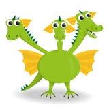 Three-headed dragon Stock Image