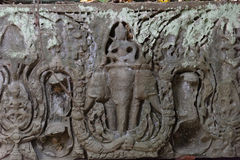 Three headed elephant, Beng Mealea Temple, Cambodia Royalty Free Stock Photos