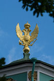 Three-headed golden eagle on the roof of the State Hermitage Mus Royalty Free Stock Photography