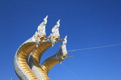 three-headed dragon in Thai belief Stock Photo