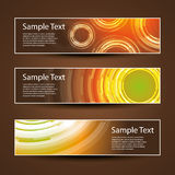 Three Header Designs Royalty Free Stock Photography