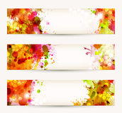 Three headers Stock Images
