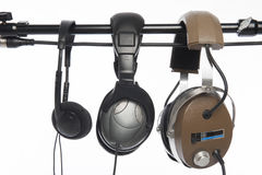 Three headphones Stock Photos