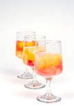 Three Healthy Fruit Cocktails Royalty Free Stock Photos