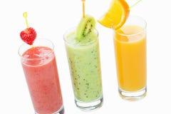 Three healthy organic drinks Stock Photos