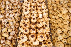 Special maltese cookies and sweets for sale Royalty Free Stock Image