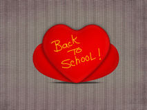 Three heart with back to school Stock Image