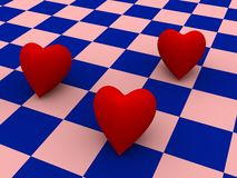 Three hearts Stock Photo
