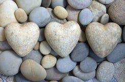 Three hearts royalty free stock photos