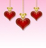 Three hearts Royalty Free Stock Photo