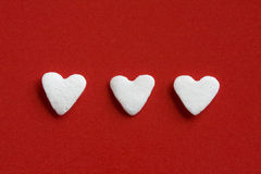 Three Hearts Royalty Free Stock Photography