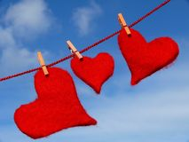 Three hearts Stock Photography
