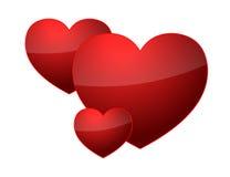 Three hearts Royalty Free Stock Photography