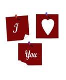 Three Hearts With I Love You. Three heart design saying I Love You Royalty Free Stock Photo