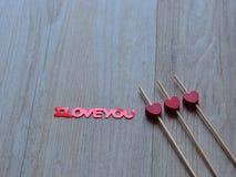 Three hearts and i love you Stock Photography