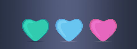 Three hearts Royalty Free Stock Photo