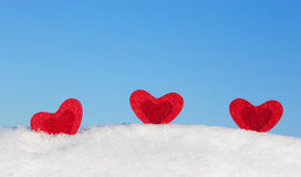Three hearts. Stock Image