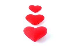 Three hearts Royalty Free Stock Image