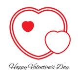 Three hearts. Romantic love symbol of valentine day. Vector illustration Royalty Free Stock Image
