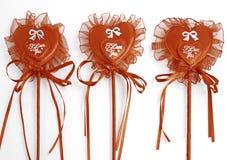 Three hearts of Valentine Stock Photo