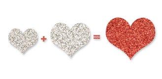 Three hearts for Valentine's day. Illustration of three hearts for Valentine's day Royalty Free Stock Photos