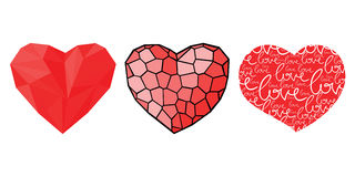 Three hearts for Valentines day Royalty Free Stock Photography