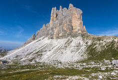 Three heights of Lavaredo stock photo