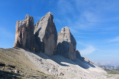Three heights of Lavaredo royalty free stock image