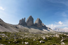Three heights of Lavaredo royalty free stock images