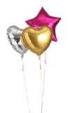 Three helium balloons Stock Photos
