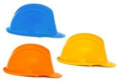 Three helmets royalty free stock photo
